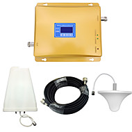 mobiltelefon signal booster cdma 850mhz 800mhz dcs 4g 1800mhz signal repeater med tak antenne / log periodisk antenne / golden / lcd