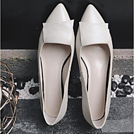 Women's Shoes Patent Leather Spring Fall Comfort Flats For Casual Gray Black White