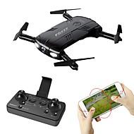 RC Drone FQ777 FQ777-05 4 Kanal 6 Eksen 2.4G WIFI 720P HD Kameralı RC 4 Pervaneli Helikopter LED Aydınlatma Dönüş Için Tek Anahtar Başsız