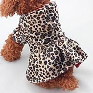 Χαμηλού Κόστους Χριστουγεννιάτικα κοστούμια για κατοικ-Χριστούγεννα Ρούχα για σκύλους Λεοπάρ Λεοπαρδαλί Βαμβάκι Στολές Για κατοικίδια Ένα Τεμάχιο Διατηρείτε Ζεστό