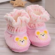 赤ちゃん 靴 コットン 秋 冬 コンフォートシューズ フラット 用途 カジュアル イエロー ブルー ピンク