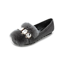 Ženske Cipele Krzno Jesen Zima Udobne cipele Ravne cipele Ravna potpetica Okrugli Toe Za Kauzalni Crn Sive boje