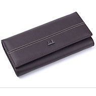 Women Bags PU Wallet Zipper for Event/Party Formal All Seasons Black Fuchsia Coffee