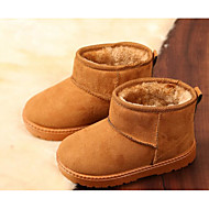 cheap Girls' Shoes-Girls' Shoes Suede Fall Winter Fluff Lining Snow Boots Boots for Casual Black Fuchsia Coffee Khaki
