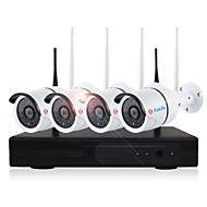 halpa -yanse® 4ch langaton nvr-sarja 720p vedenpitävä ja yökuvaus turvallisuus wifi ip kamera 36leds valvonta cctv-järjestelmä koti hd