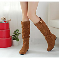 Women's Shoes PU Winter Fall Comfort Combat Boots Boots Mid-Calf Boots For Casual Black Yellow Brown