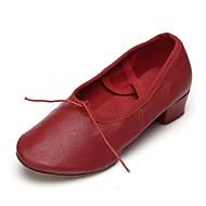 billige Jazz-sko-Dame Jazz Kunstlær Trening Tykk hæl Rød 3,5 cm Kan spesialtilpasses