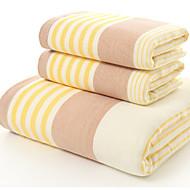baratos Toalha de Banho-Estilo fresco Toalha de Banho,Listrada Qualidade superior Combinação Poliéster/Algodão Toalha