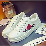Damen Schuhe Atmungsaktive Mesh PU Frühling Herbst Komfort Sneakers für Normal Weiß Schwarz