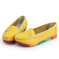 Women's Shoes PU Spring Fall Comfort Loafers & Slip-Ons For Casual Blue Green Yellow White