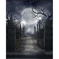 5 * 7ft stor fotografering bakgrunns bakgrunn klassisk mote halloween gothic arkitektur tema for studio profesjonell fotograf