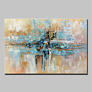 cheap Oil Paintings-Oil Painting Hand Painted - Abstract Abstract Modern Canvas