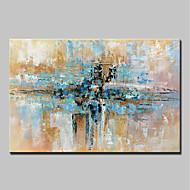 voordelige -Handgeschilderde Abstract Horizontaal, Abstract Modern Kangas Hang-geschilderd olieverfschilderij Huisdecoratie Eén paneel