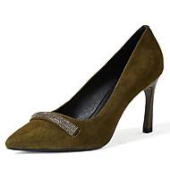 Femme Chaussures Cuir Nubuck Polyuréthane Printemps Automne Escarpin Basique Chaussures à Talons Talon Aiguille Pour Décontracté Noir Kaki