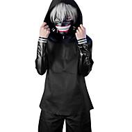 Cosplay Suits Inspirirana Tokio Ghoul Ken Kaneki Anime Cosplay Pribor Kaput Top Hlače Mask Kratke hlače PU koža Muškarci Žene novi vruć