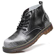 olcso -Férfi cipő Valódi bőr Bőr Ősz Tél Motoros csizmák Csizmák Bokacsizmák Kombinált Kompatibilitás Bár Fekete Szürke Barna