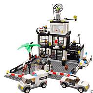 Stavební bloky Hračky Věž Architektura Policie Klasické Chlapci Chlapecké 631 Pieces