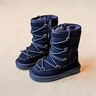 女の子 靴 レザー 冬 スノーブーツ ブーツ ブーティー/アンクルブーツ 用途 カジュアル ダークブルー グレー キャメル