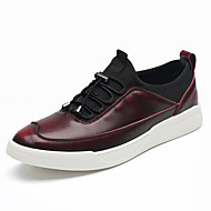 cheap Extended-Size Shoes-Men's Shoes Cowhide Spring Fall Comfort Sneakers Split Joint Button for Casual Party & Evening Gray Brown Red