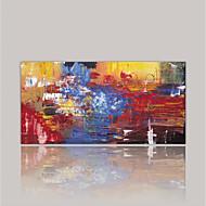 billiga Väggkonst-Kanvas Tryck Abstrakt, En panel Duk Horisontell Tryck väggdekor Hem-dekoration
