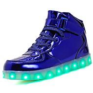 Chlapecké Boty PU Jaro Pohodlné   Svítící boty Tenisky Chůze Šněrování    Háčky a očka   LED pro Stříbrná   Modrá   Růžová 25987ed66e