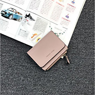 Women Bags PU Wallet Zipper for Casual All Seasons Blue Black Blushing Pink Light Purple Light Gray