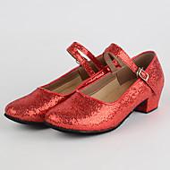 billige Moderne sko-Dame Moderne sko Paljett Lav hæl Kan spesialtilpasses Dansesko Gull / Sølv / Rød / Innendørs