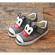 baratos Sapatos de Menino-Para Meninos Sapatos Couro Outono / Inverno Conforto Tênis para Preto / Cinzento / Vermelho
