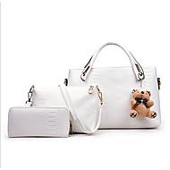 Damen Taschen PU Bag Set Reißverschluss für Normal Ganzjährig Weiß Schwarz Rote