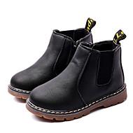 baratos Sapatos de Menino-Para Meninos Sapatos Micofibra Sintética PU Inverno Conforto / Coturnos Botas para Preto / Cinzento / Marron