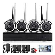 billige Trådløst CCTV System-yanse® 1080p 4-tommers trådløse nvr-sett 4 stk vanntett ir nattesyn wifi ip kamera sikkerhetssystem hd 2.0mp