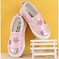 tanie Obuwie dziewczęce-Dla dziewczynek Buty PU Zima Jesień Comfort Mokasyny i pantofle na Casual Silver Różowy