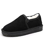 Feminino Sapatos Tecido Couro Ecológico Primavera Outono Botas de Neve Chinelos e flip-flops Salto Grosso Botas Curtas / Ankle Para Casual