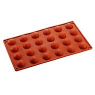 24 semicerc mucegai tort de ciocolată, silicon 29,8 × 17,4 × 1,5 cm (11,7 x 6,9 x 0,6 inch)