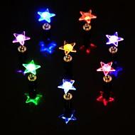 halpa -1kpl led-värivaihtoehto tähti muoto korvakorut korvatulpat tanssiryhmään