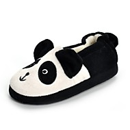 baratos Sapatos de Menina-Para Meninas Sapatos Flanelado Outono / Inverno Conforto / Solados com Luzes Chinelos e flip-flops Apliques para Branco / Preto