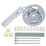 cheap LED Strip Lights-HKV Flexible LED Light Strips 60 LEDs Warm White White Body Sensor DC 4.5V <5V DC4.5