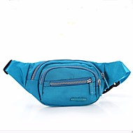 Women Bags Nylon Waist Bag Zipper for Outdoor All Seasons Blue Light Green Fuchsia