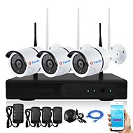 cheap Wireless CCTV System-3CH 1080P Wireless NVR Kits Waterproof IR Night Vision WIFI IP Camera Security System 3pcs 2.0MP Camera 8963P1120