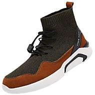 メンズ 靴 チュール 秋 冬 ライト付きソール ブーツ 用途 カジュアル Brown ブラックとホワイト