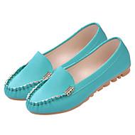 baratos Sapatos Femininos-Mulheres Sapatos Pele Napa Primavera / Verão Mocassim Rasos Preto / Verde / Rosa claro