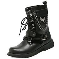 Masculino sapatos Pele Napa Inverno Coturnos Botas Cadarço Para Preto