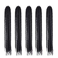 Braiding Hair ถักโครเช / ฮาวานา Braids บิด ผม Kanekalon 100% / Kanekalon 5 ชิ้น Braids ผม ยาว