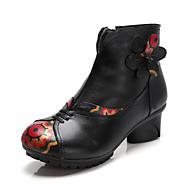 レディース ダンスブーツ 本革 レザー ブーツ スニーカー プロフェッショナル チャンキーヒール ブラック パープル レッド