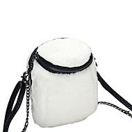 Χαμηλού Κόστους Fur Bags-Γυναικεία Τσάντες Γούνα Σταυρωτή τσάντα Φτερά / Γούνα για Εκδήλωση/Πάρτι Causal Όλες οι εποχές Λευκό Μαύρο Ανθισμένο Ροζ Γκρίζο