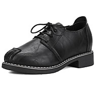 Women's Shoes PU Fall Winter Comfort Oxfords For Casual Office & Career Gray Black