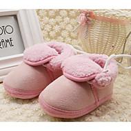 赤ちゃん 靴 フリース 秋 冬 コンフォートシューズ 赤ちゃん用靴 フラット 用途 カジュアル レッド ブルー ピンク カーキ色