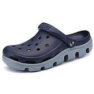 Masculino sapatos Couro Ecológico Verão Conforto Tamancos e Mules Para Casual Preto Azul Escuro Khaki