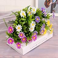 38cm 4 stk. 7 grener / pc hjem kunstige planter fargerike disy solsikke