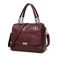 Women Bags All Seasons PU Tote Zipper for Formal Office & Career Black Gray Army Green Wine